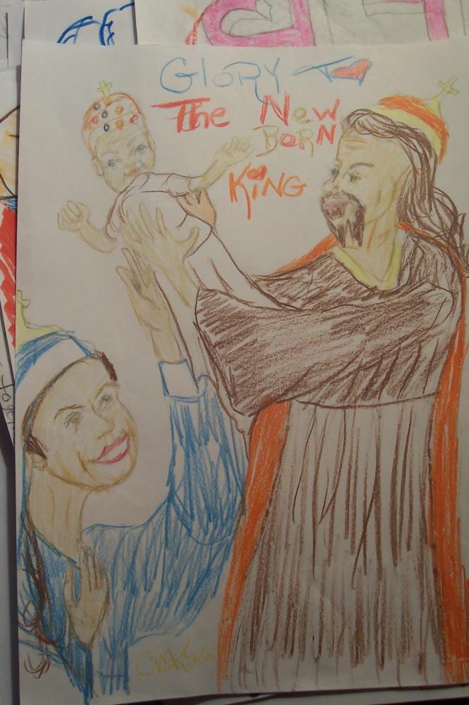 Virgin Mary, Jesus Christ by cindykron